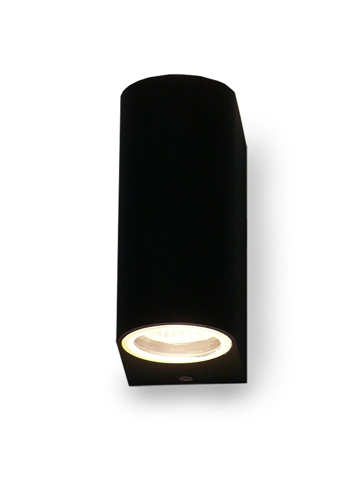 Applique UpDown noire pour extérieur + intérieur 2x GU10 10217