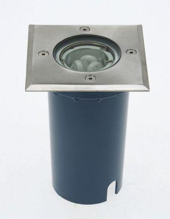 Bodeneinbaustrahler POTSDAM eckig begehbar 110x110 mm IP67