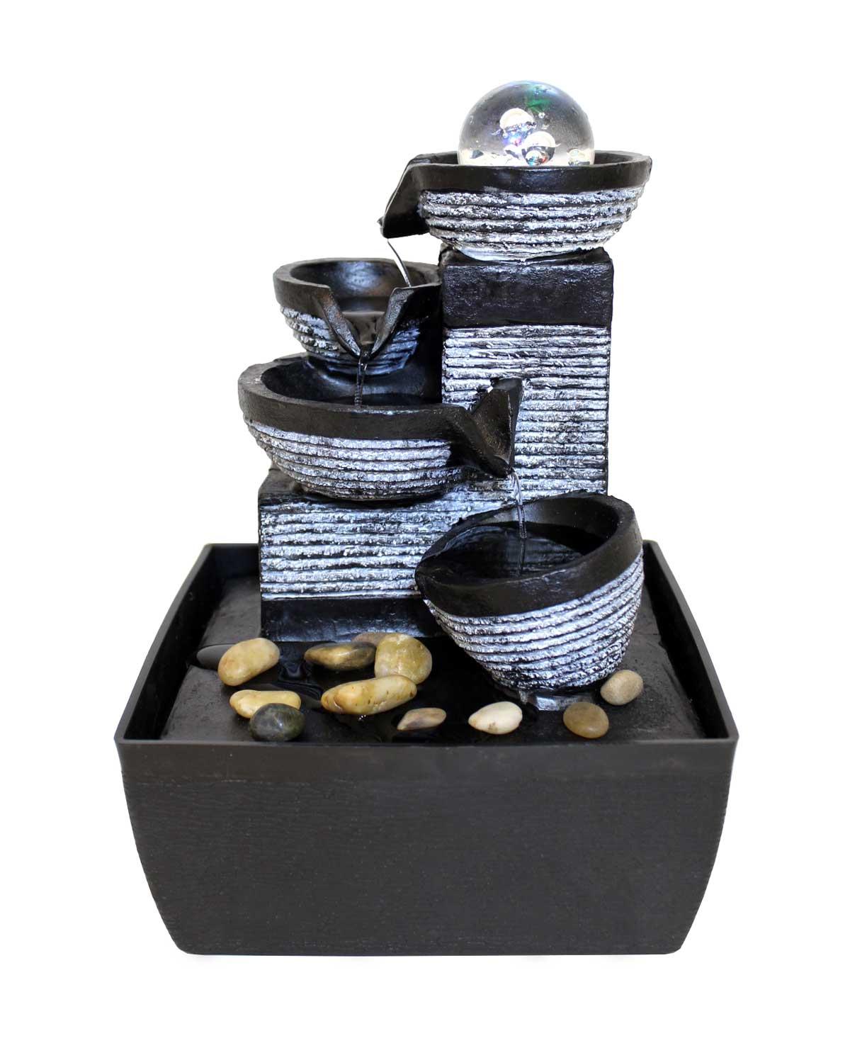 Fontaine de table fontaine décorative FoPot Changement de couleur Led 10466