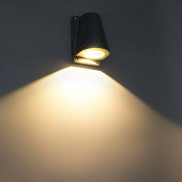 LED Wandleuchte Boss anthrazit 5 W warmweiß IP44