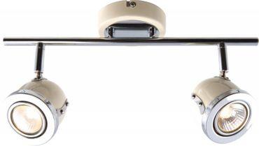 Deckenstrahler Bel Air vanille Metall 2x GU10