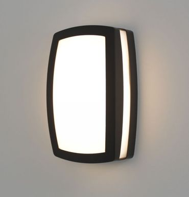 Wandleuchte Arizona IP44 9W LED warmweiß 25x15,5 cm dunkelgrau 10543