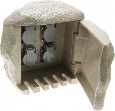 Energieverteiler STEIN 4-fach Steckdose für Direktanschluss an Erdkabel