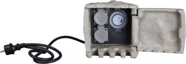 Energieverteiler STEIN 2-fach Steckdose mit Zeitschaltuhr 1,5m Anschlusskabel