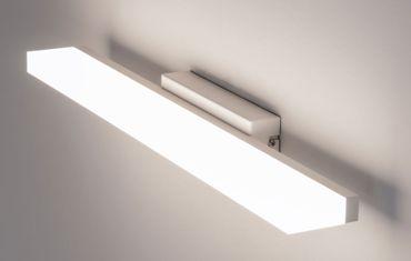 LED Spiegelleuchte Wandleuchte Vivo Bar L: 60,5cm 18W 3000K Alu mattweiß 10701