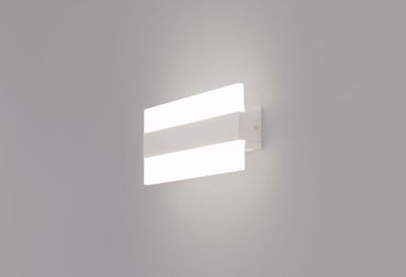 LED Wandleuchte Vivo Rectangle 26x12cm 8W 3000K Alu mattweiß 10705