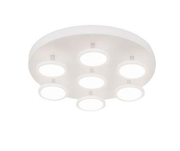 LED Deckenleuchte Spotleuchte Bent R7 7x6W 3000K dreh- + schwenkbar mattweiß 10710