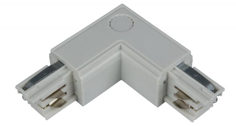 L-Verbinder links für 3-Phasen Schiene, weiß, Kunststoff, IP 20