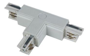 T-Verbinder rechts für 3-Phasen Schiene, weiß, Kunststoff, IP 20
