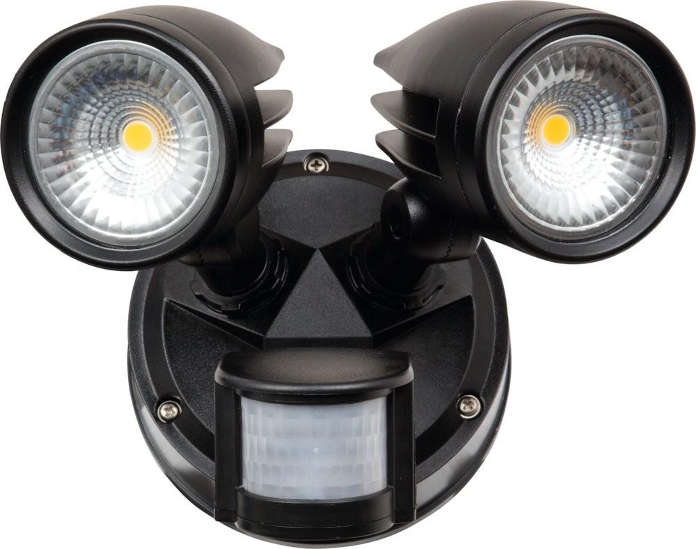 LED Wandleuchte MERIDA mit Bewegungsmelder, 2x 26W, warmweiß, IP 54