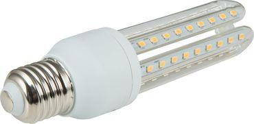 LED Leuchtmittel 3U Form, 3000 K, 960 Lumen, E27