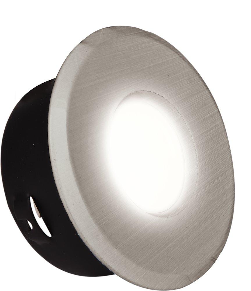 Feuchtraum Einbaustrahler DL7001 eisen-gebürstet GU10 Ø 84 mm, IP 65, max. 50 W