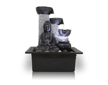 Zimmerbrunnen Dekobrunnen FoBuddha Pot mit LED 10782