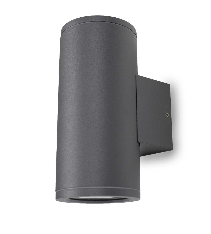 Wandleuchte UpDown Patoro R 2x 35W GU10 IP54 dunkelgrau H: 17,3 cm 10807