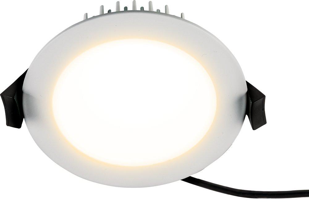 LED Einbaustrahler Lescar 230V 13W weiß rund Ø 104 mm weiß einstellbar IP54