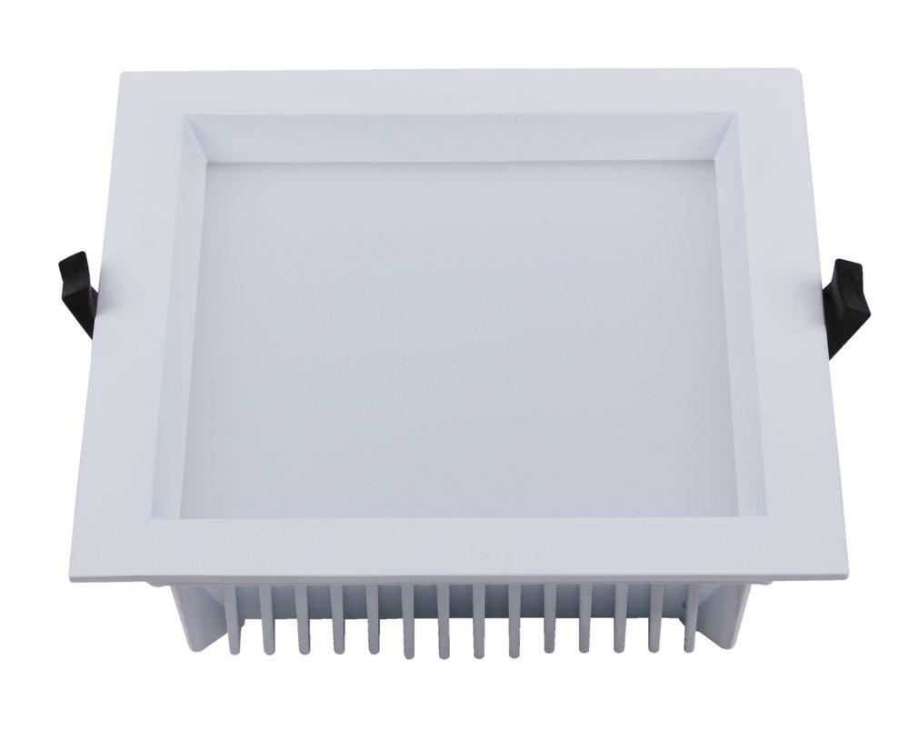 LED Einbaustrahler Lescar 230V 25W weiß eckig 190x190 mm weiß einstellbar IP54
