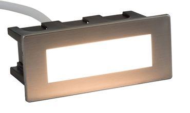 LED Wandeinbauleuchte Edge 123x53 mm 1,5W 3000K Abdeckung wechselbar IP65