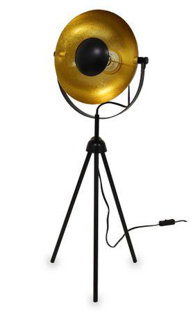 Dreibein Tischleuchte Small Alona schwarz + gold 76cm 10839
