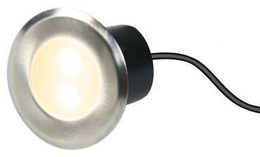 LED Bodeneinbaustrahler 4er Set rund 40mm IP44 mit Tag-/Nachtsensor