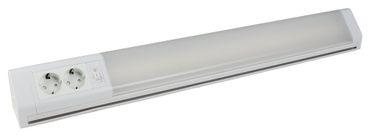 LED Unterbauleuchte Bonn 15W weiß 2 Steckdosen 762mm
