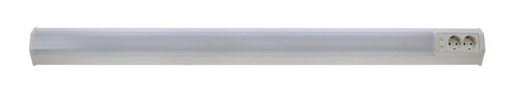LED Unterbauleuchte Bonn 20W weiß 2 Steckdosen 1062mm