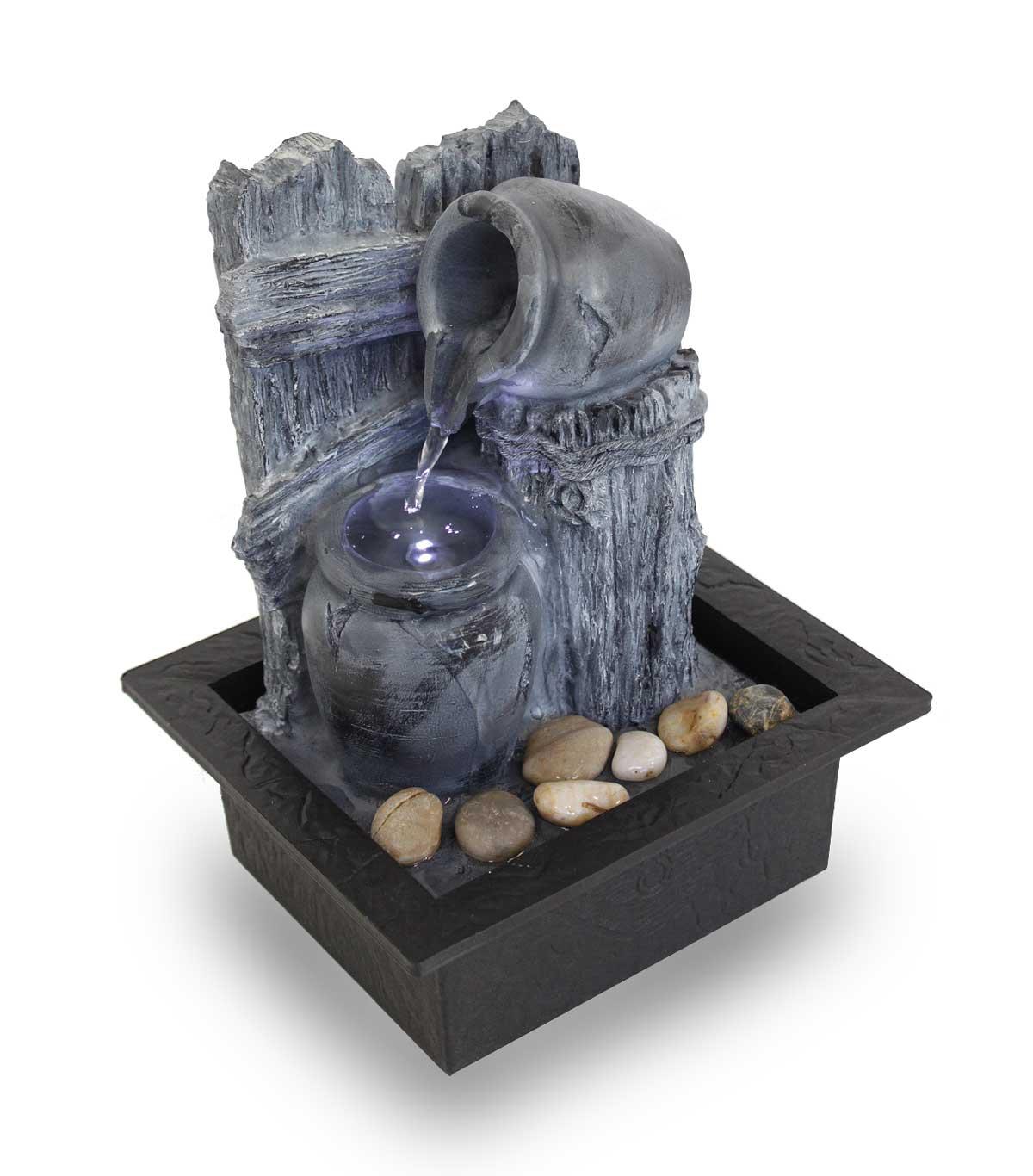 fontaine d'intérieur fontaine de table fontaine de pichet FoRecinto avec led 10864