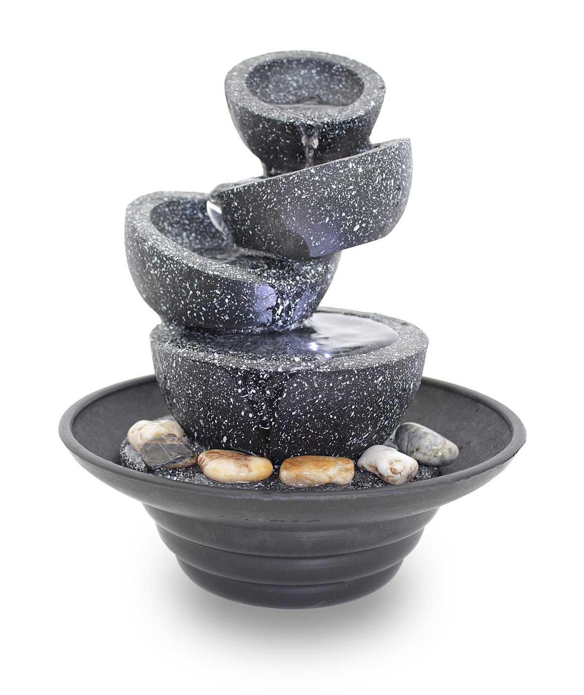 fontaine d'intérieur fontaine de table fontaine décorative FoBowls avec LED 10869
