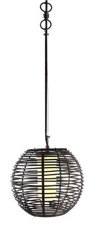 Pendelleuchte Velorum schwarz Ø 254mm E27 18W IP44