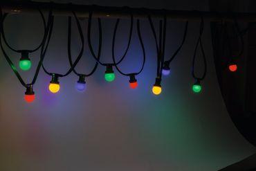 LED Party Lichterkette Rainbow 10m, IP 44