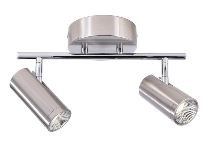 LED Deckenaufbauleuchte Becrux II 10W 3000 K L 314 mm dimmbar silber IP20