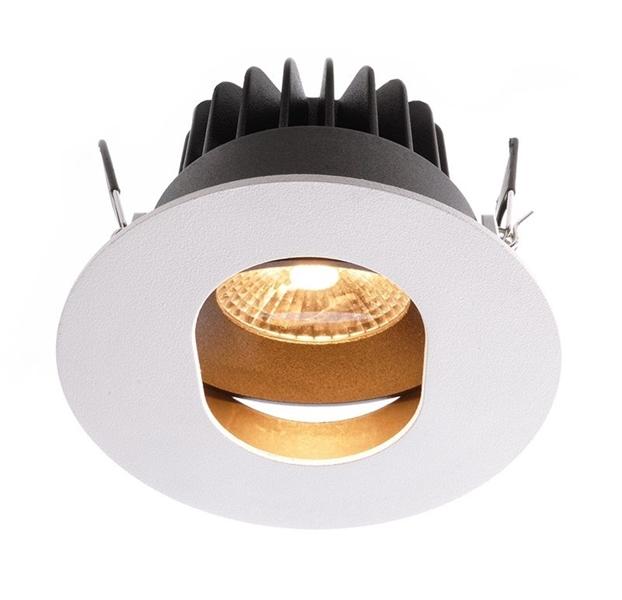 LED Deckeneinbauleuchte Paravado 10W 2700 K weiß D 90mm dimmbar schwenkbar Aluminium