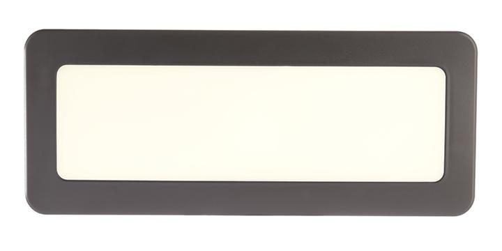 LED Wandaufbauleuchte Crucis 2 W 210x85 mm 3900 K inkl. Netzteil dunkelgrau IP65