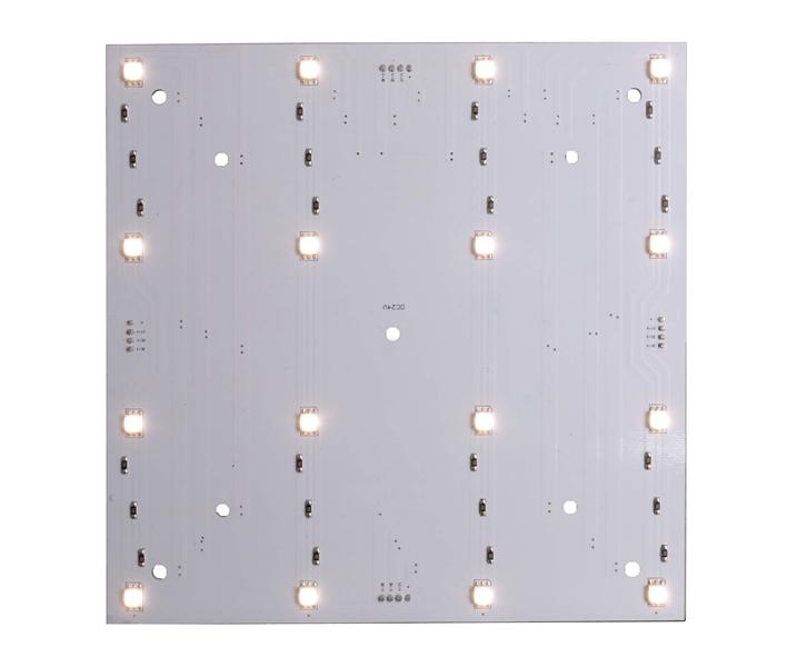 LED Panel Modulsystem Modular Panel II 4x4 WW 3200 K 5,5 W 166x166 mm weiß Aluminium dimmbar IP20