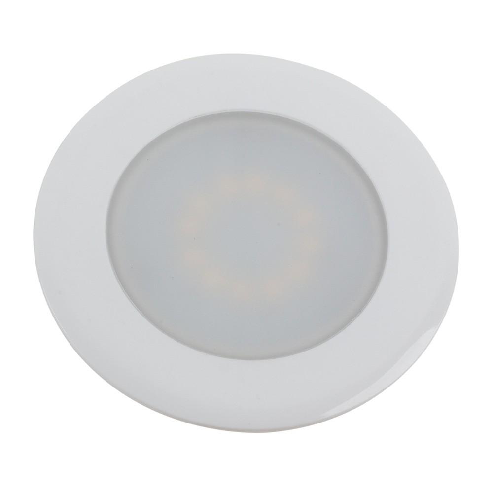 LED Einbaustrahler Casablanca 2 W 230V weiß rund Ø 68 mm warmweiß
