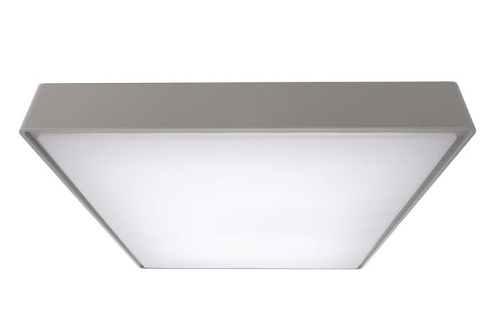 LED Deckenleuchte Quadrata III 20 W 4000 K 400x400 mm grau IP65