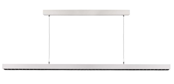 Led Pendelleuchte Office Three 58 W 4000 K L 1179 mm weiß Aluminium IP20