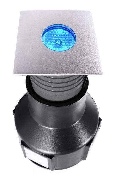 LED Bodeneinbauleuchte Easy Square II RGB 3,5W 55x55 mm exkl. Netzteil silber IP67