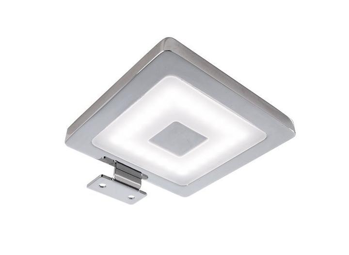 LED Spiegelleuchte Eckig 4,5 W 4000 K 80x97,5 mm dimmbar silber Aluminium IP44