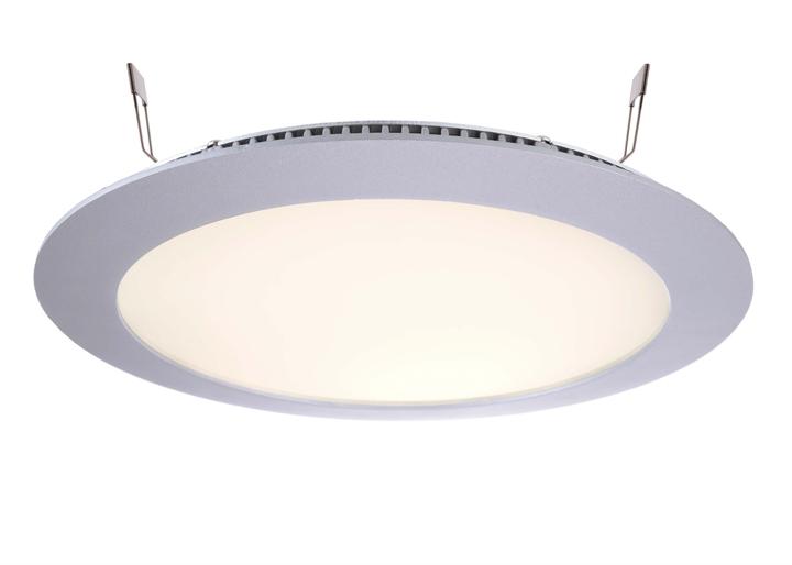 LED Deckeneinbauleuchte LED Panel 16 13W 2700 K silber D236mm dimmbar Aluminium IP20