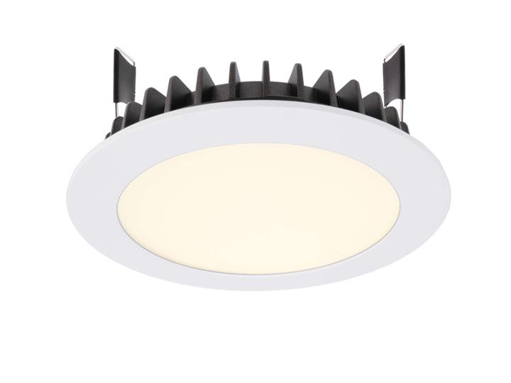 LED Deckeneinbauleuchte LED Panel Round III 12 3000 K 12,5 W D 140 mm dimmbar weiß Aluminium IP20