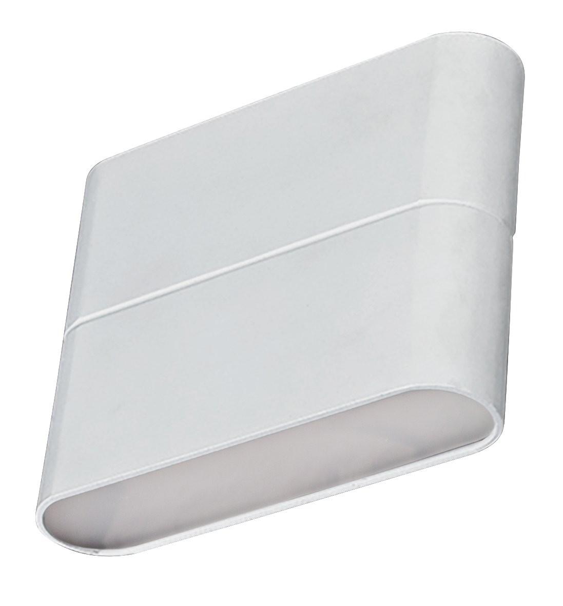 LED Außenwandleuchte Simbo 8W 3000 K 110x90 mm weiß IP54