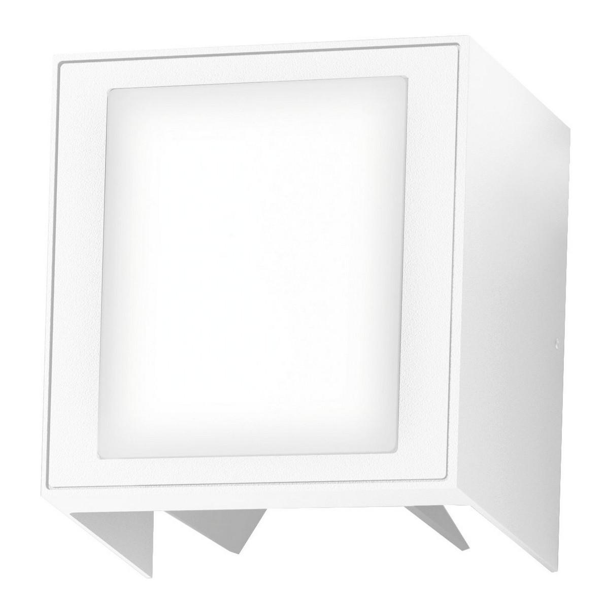 LED Außenwandleuchte Plaza 9W weiß Lichtaustritt verstellbar IP54