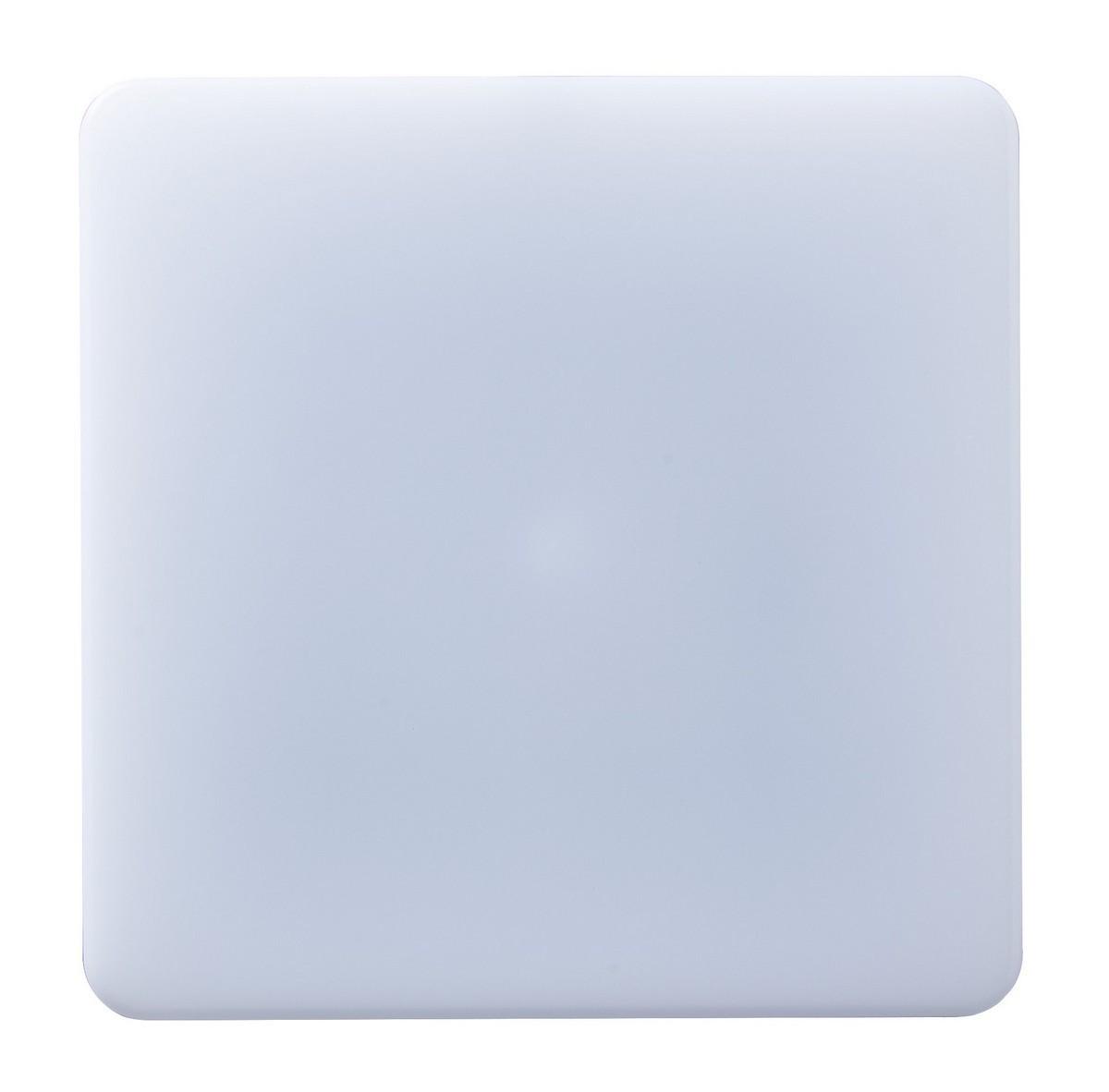 LED Deckenleuchte Pronto eckig 24W mit Bewegungsmelder 3000 K 330x330 mm Kunststoff weiß IP54