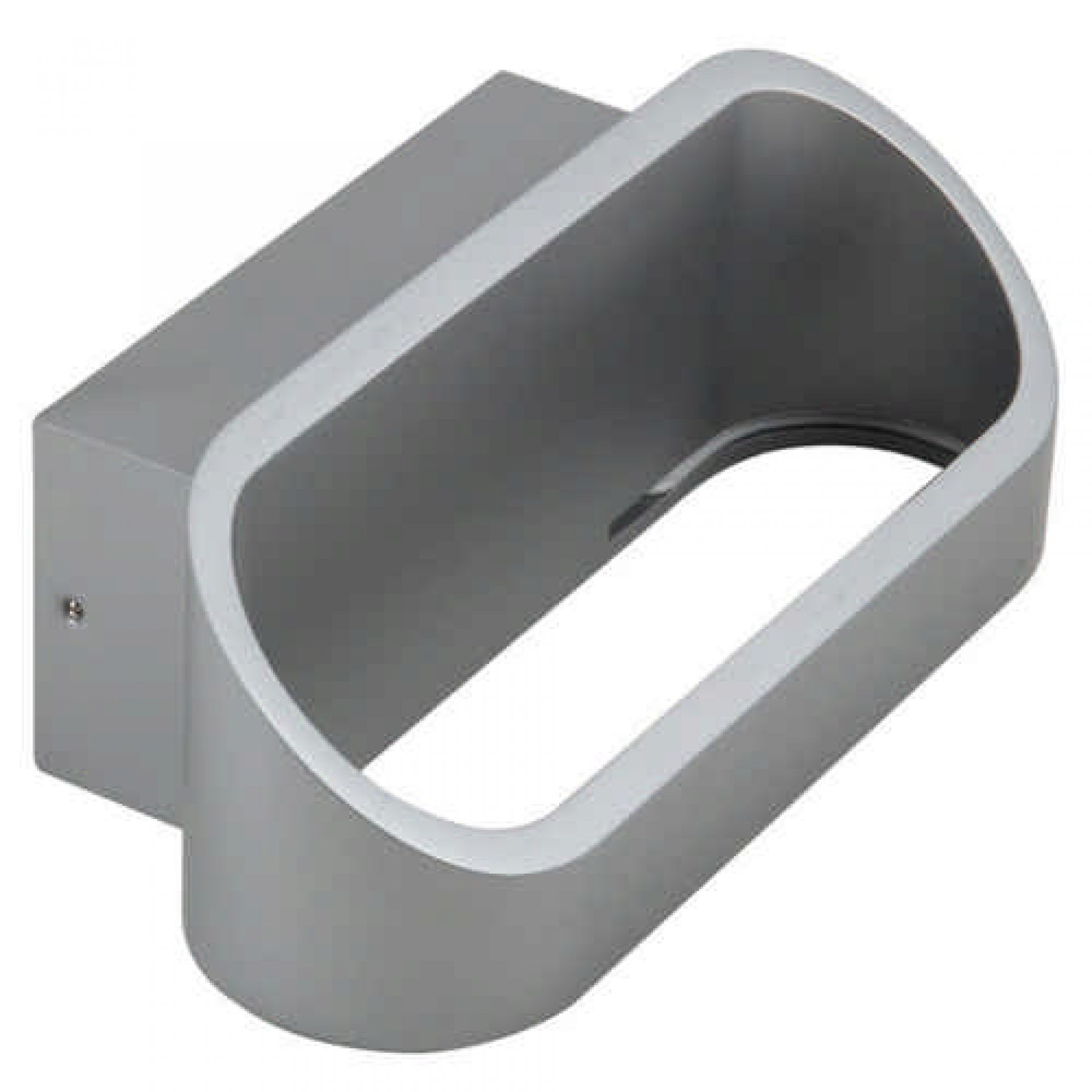 LED Wandleuchte Agrinio 6,5 Watt 3000 K 180x92 mm silber Aluminium IP20