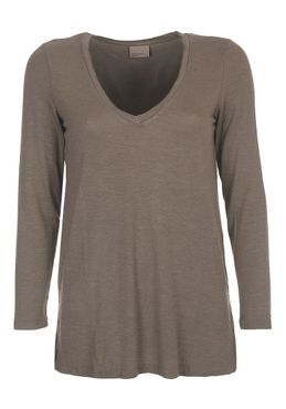 VERO MODA VMEmily Leo Deep V-Neck LS Top NFS – Bild 6