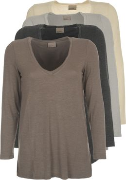 VERO MODA VMEmily Leo Deep V-Neck LS Top NFS – Bild 1
