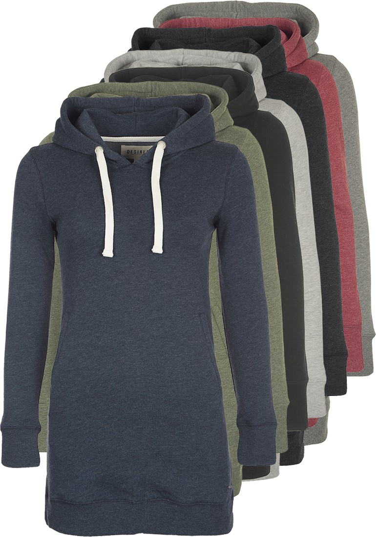 DESIRES Derby Hood Long Kapuzenpullover