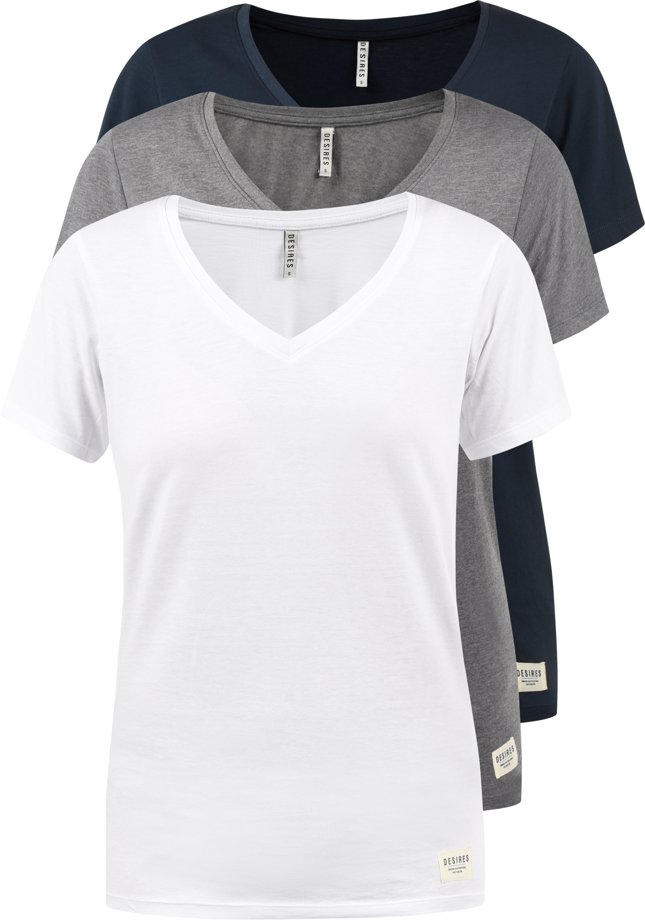 DESIRES Vanni T-Shirt 3er Pack