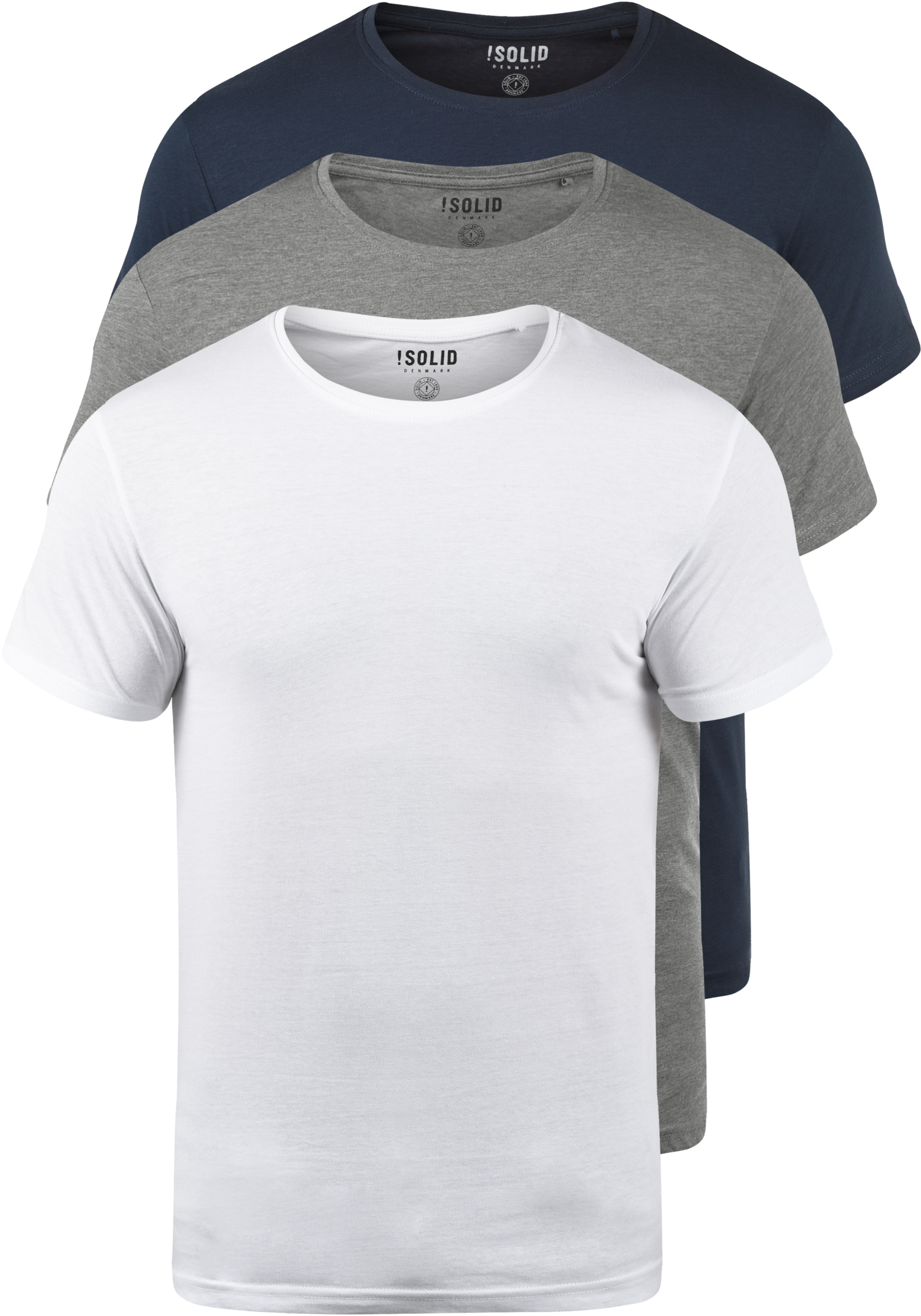 SOLID Portas T-Shirt 3er Pack