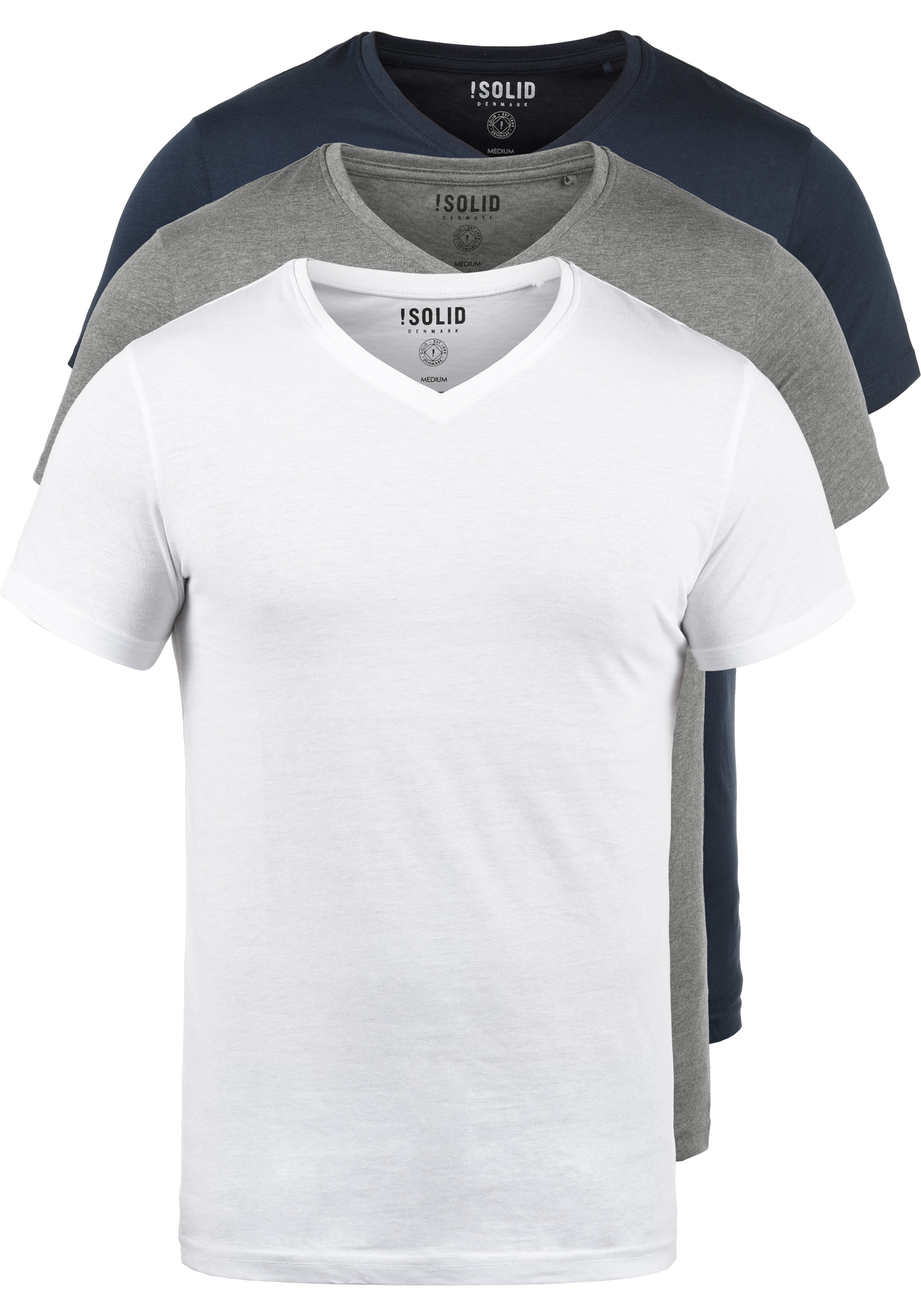 SOLID Portus T-Shirt 3er Pack